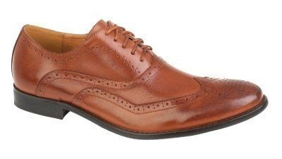 LD Outlet , Chaussures de ville à lacets pour garçon: Richelieus en cuir synthétique doux et luxueux, disponibles en noir ou en marron…