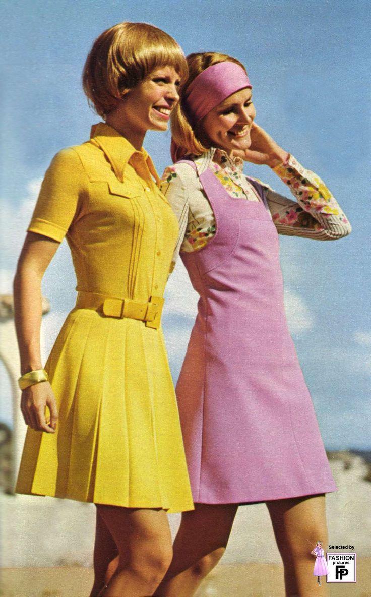 70er Jahre Minikleider. Ich wurde wirklich in der falschen