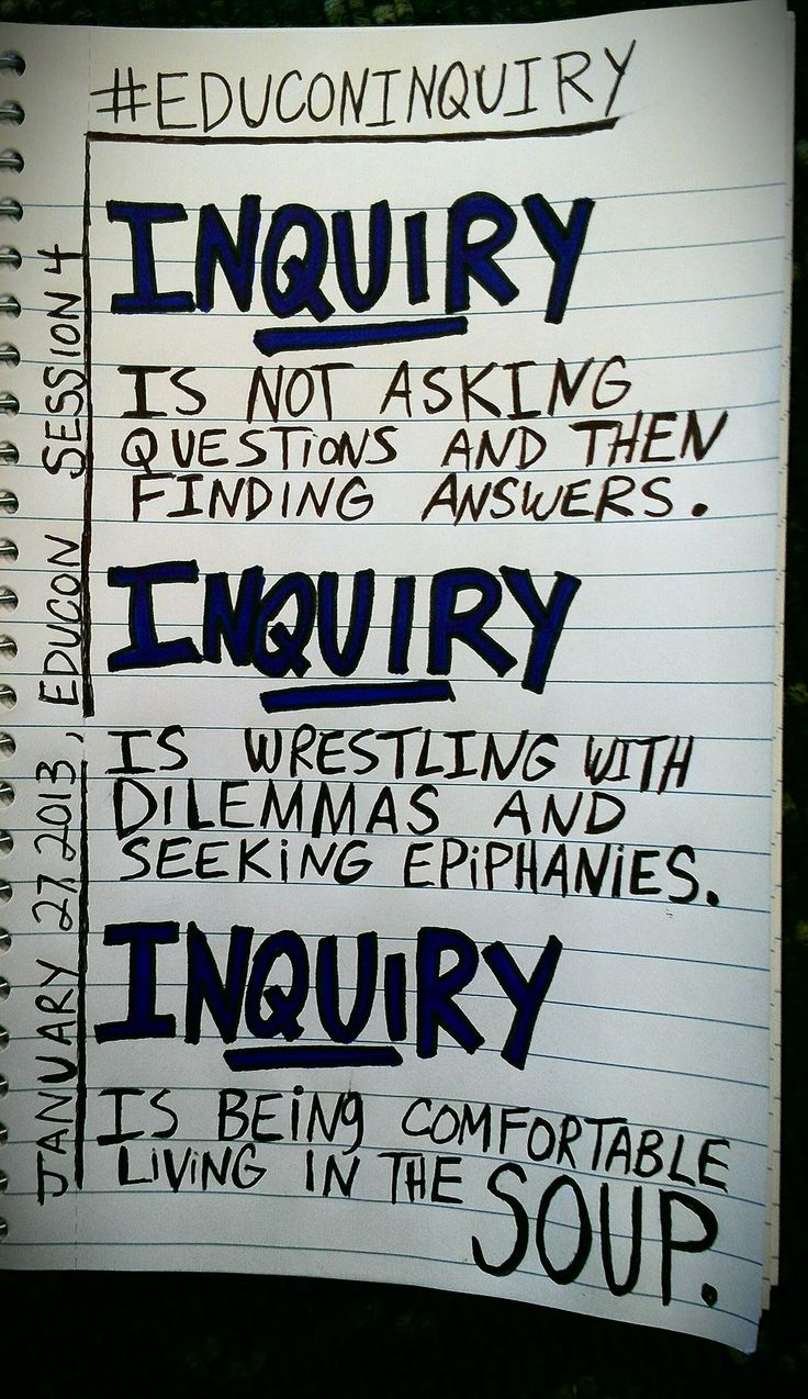 inquiry based learning Inquiry-based learning includes teaching methods built on students' individual knowledge and interests, and emphasizes learning how to learn and how to find out, using both traditional and contemporary media.