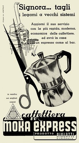 Moka Express Bialetti. Pubblicità degli anni '50. #TuscanyAgriturismoGiratola