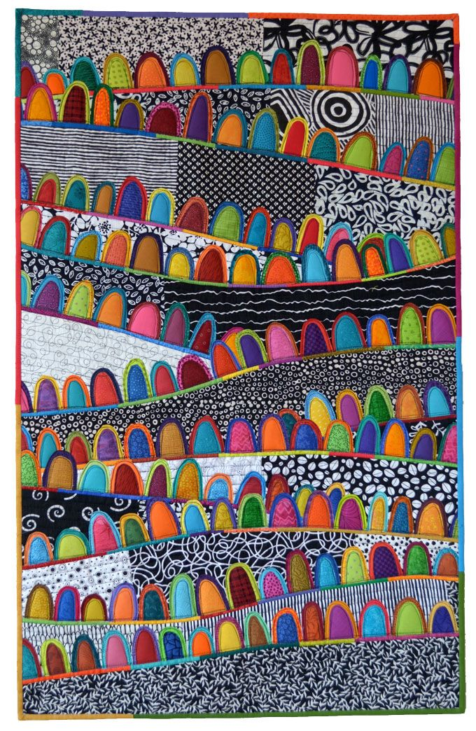 I'm becoming quite obsessed with Maryline's work. Maryandpatch, A Happy Place, a quilt by Maryline Collioud-Robert