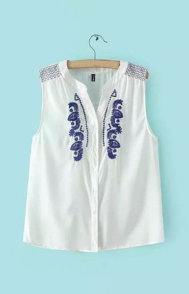 Vintage Embroidery Tank Top – Trendy Road