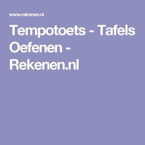 Tempotoets - Tafels Oefenen - Rekenen.nl
