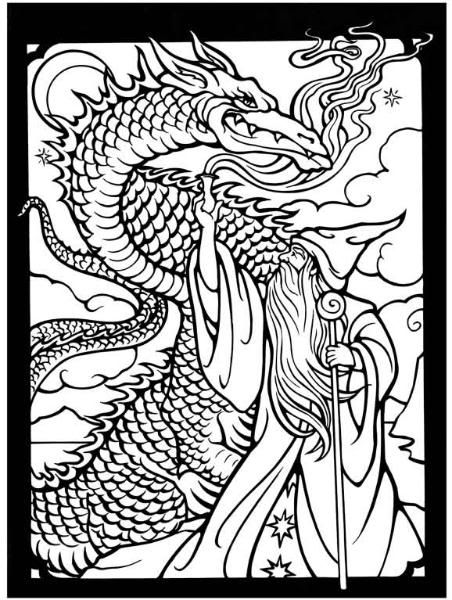 Dragon Wizard Fantasy Myth Mythical