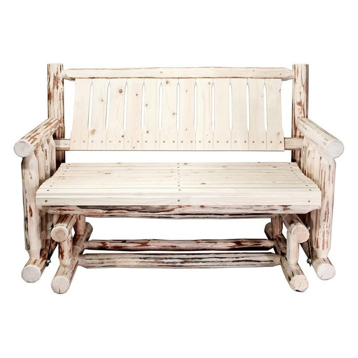 montana woodworks outdoor glider loveseat mwlgnr