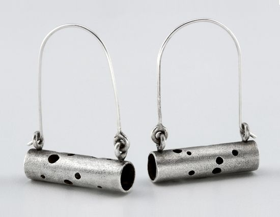 Astral Earrings: Sarah Mann: Silver Earrings - Artful Home