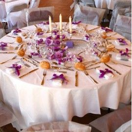 nappe ronde intiss opaque dcoration de table mariage fte - Nappe Ronde Mariage