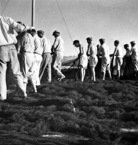 Ψαράδες στην Αίγινα. Γύρω στο 1950 Βούλα Θεοχάρη Παπαϊωάννου