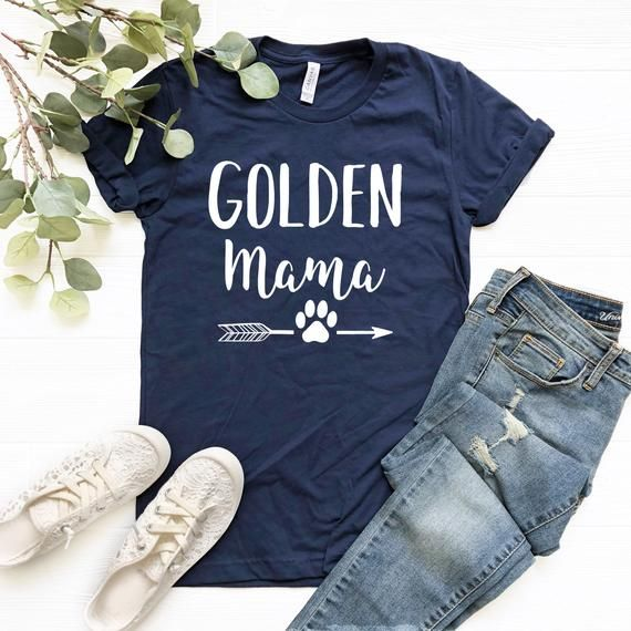 Golden Mama Shirt Golden Retriever Tshirt Golden Mom Shirt