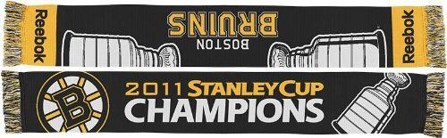 NHL Boston Bruins Stanley Cup Champions Scarf (Black, One Size Fits All) by Reebok. $13.56. Celebrate the Boston Bruins' amazing 2011 NHL Stanley Cup Championship with this special Stanley Cup Champions scarf by Reebok!. Save 50% Off!