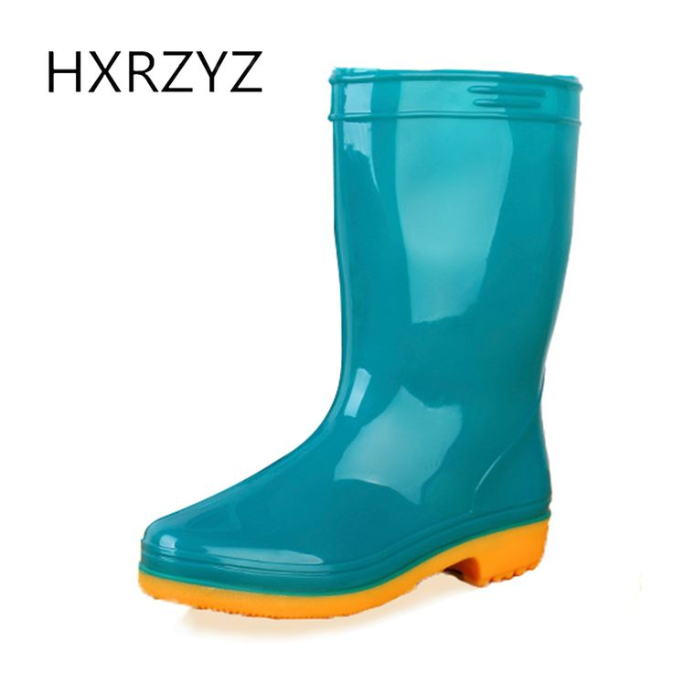 spring/autumn hot new fashion women rain Boots female PVC slip-on Waterproof rubber boots for women Slip-Resistant shoes women #Affiliate