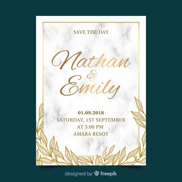 Download Golden Wedding Invitation Template For Free Wedding Invitation Templates Wedding Invitation Vector Wedding Invitation Card Design