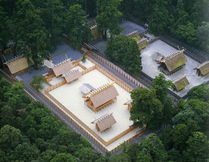 The inner shrine of Ise Jingu (Grand Shrine) in 1993, just before the 20 year transfer.