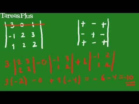 Cálculo de determinantes de 3 x 3 - YouTube