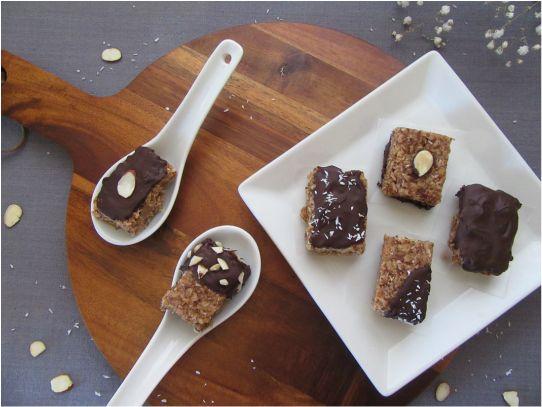 Chocolate-Dipped Granola Bites