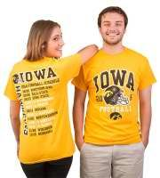 2014 Iowa Hawkeye Football Schedule T-shirt!  Can be purchased at the Iowa Hawk Shop or go to http://www.hawkshop.com/ePOS/form=shared3/gm/browse.html&cat=409