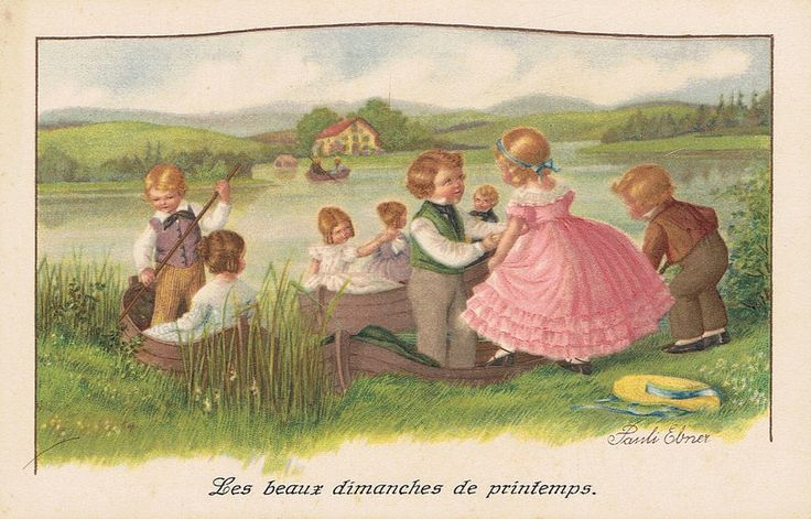 Pauli Ebner (1873-1949) — Old Post Cards  (950x607)