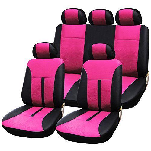 WOLTU AS7288pk Couverture de siège de voiture,housses de siège universelle en cuir,Leder Optik,Rose Noir: Woltu Siège universel élégant…