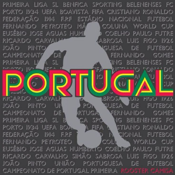 Portugal Soccer History (Unisex) - This shirt features all the key points in the history of Portuguese soccer. From the first year the premier league started to the very first world cup and the greats to play on the National Team. Buy Today! www.RoosterCamisa.com