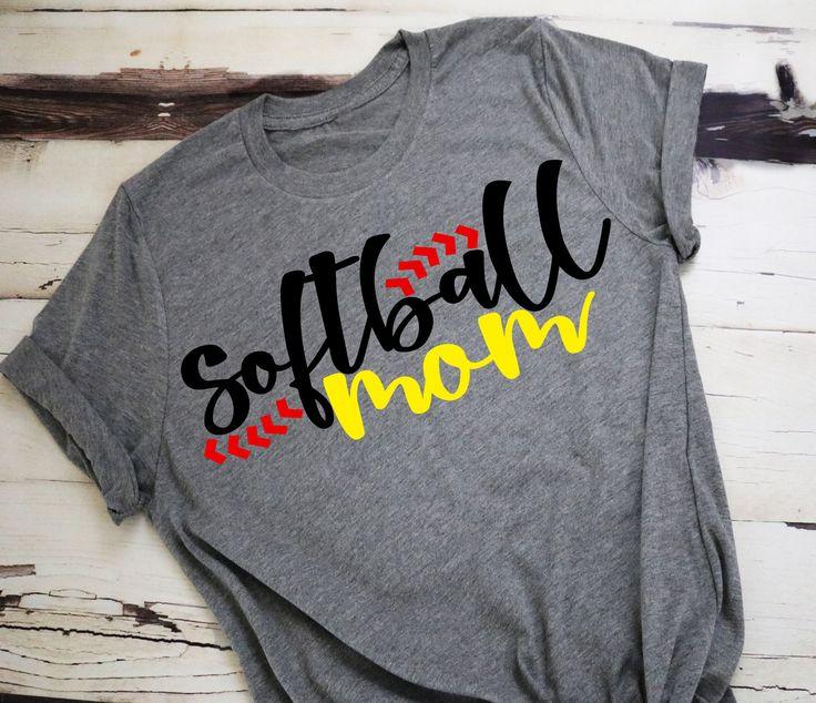 Softball Mom, Softball Shirt, Softball, Moms Shirt, Mom Softball Shirt, Mom Supporting, Yellow Softball, Mom Tshirt, Softball Mom Tshirt by TurpinKreations on Etsy https://www.etsy.com/listing/582263018/softball-mom-softball-shirt-softball
