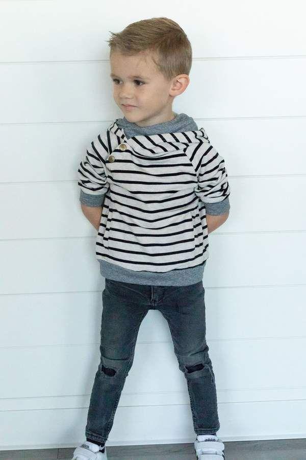 Kids DoubleHood Tan Stripe in 2020 Little boy