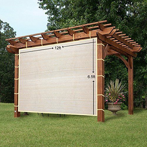 Alion Home Outdoor Sun Shade Privacy Panel With Grommets On 2 Sides For Patio Awning Window Custom To Order 3 X 6 Mocha Brown