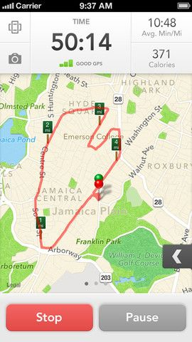 RunKeeper easily tracks your runs, rides, hikes and more just by using the GPS…