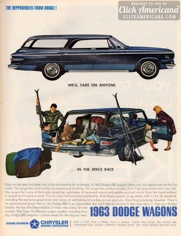 The Dependables from Dodge: 1963 Dodge Wagons