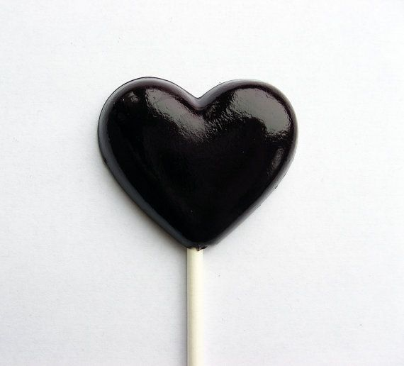 Black heart lollipops