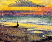 Sunset On The Beach  by Georges Lemmen