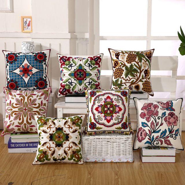 venta caliente del asiento de coche cojines de algodn bordado cubre cojines decorativos fundas de sof
