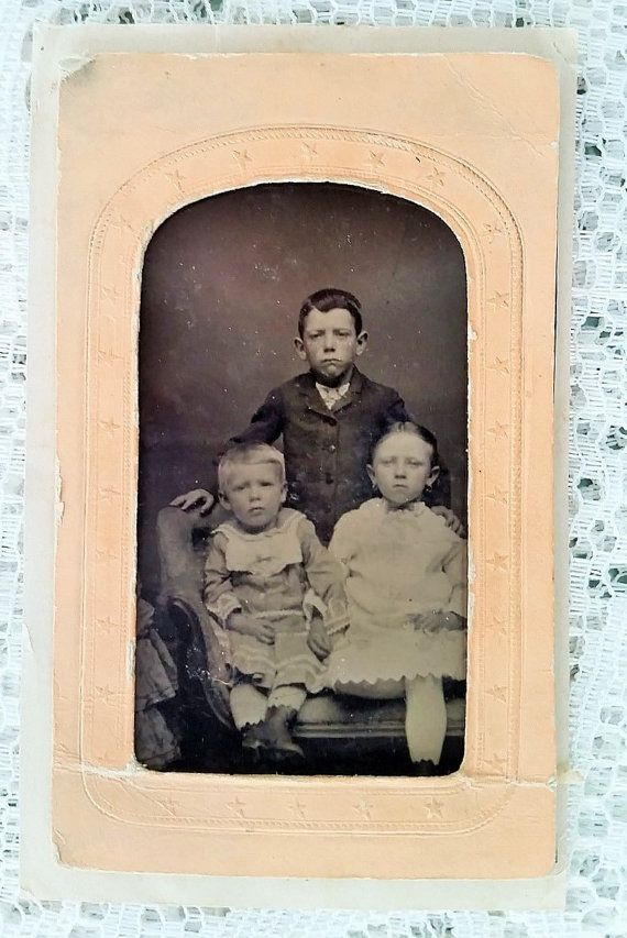 Eerie Tintype Photograph  Two Young by DaysofYoreTreasures on Etsy