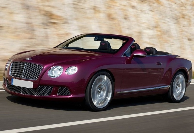 2012 Bently Continental GTC. Yes, it's a purple-pink car...LUV!!!!