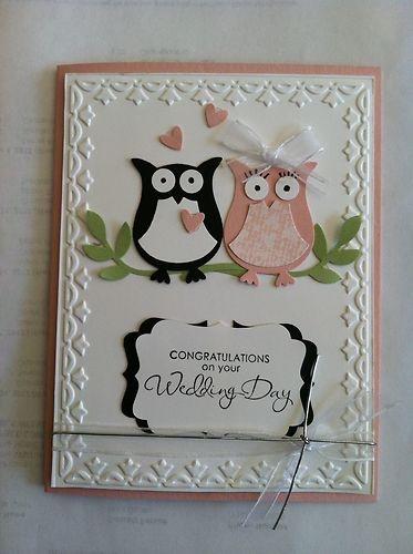 wedding card - owl love