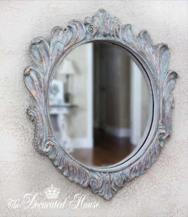 La adornó la casa ~ Crear un hermoso azul apenada Antiqued Acabado con pintura Annie Sloan Chalk