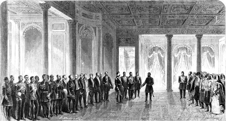 Le Sultan Recevant SAI Le Prince Jean Ier dans son palais de Dolma-Baqtche