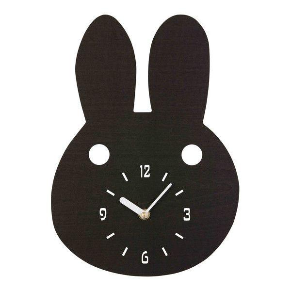 Black Bunny Timber clock – La De Dah Kids
