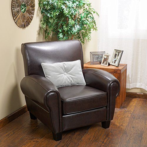 Christopher Knight Home 234124 Finley Bonded Leather Club
