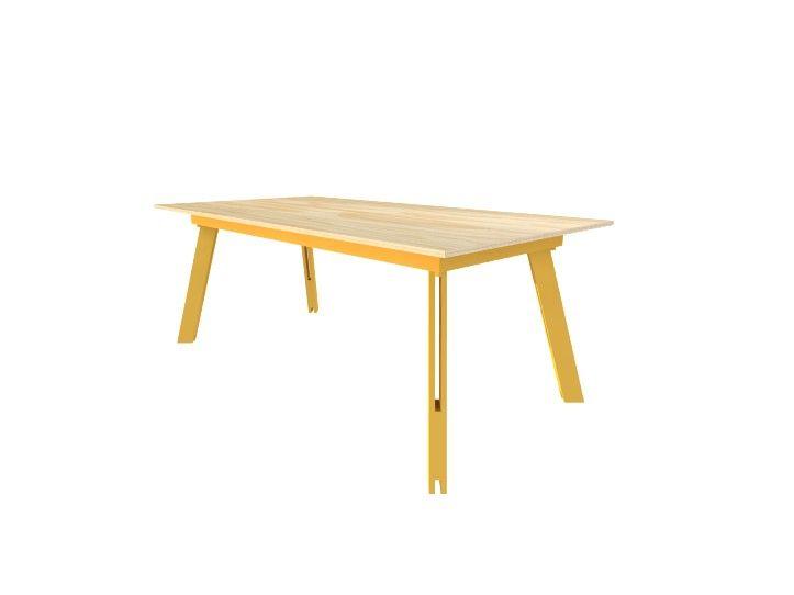 Werktekening bouwtekening Tafel, werktafel 'Teruel'  Bijvoorbeeld: Underlayment.