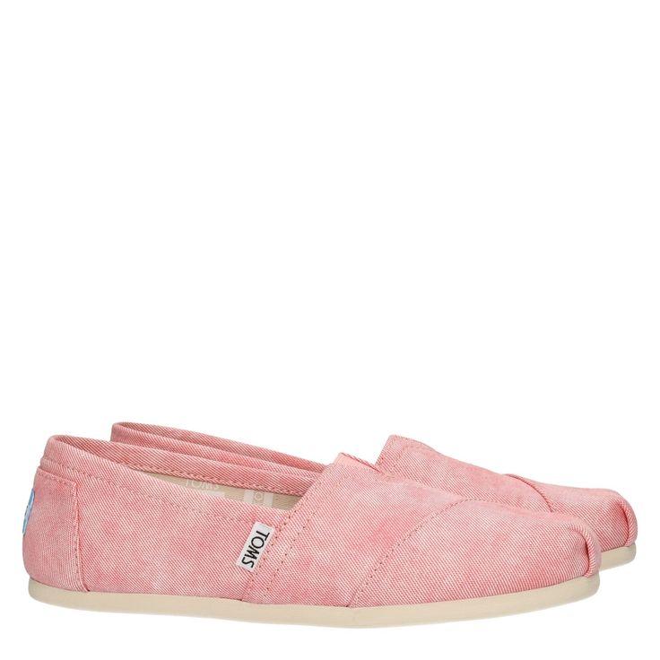 Toms 10009706 roze canvas espadrille  Exclusieve espadrilles van het merk TOMS model Toms 10009706 Classic Washed Twill. Deze TOMS espadrilles zijn vervaardigd van veganistisch canvas uitgevoerd in het roze. Deze luxe espadrilles zijn vervaardigd van 'stone washed' canvas. Dit geeft het mooie effect met de kleur. Deze roze espadrille is voorzien van een comfortabel uitneembaar voetbed (antibacterieel) en een rubberen zool met anti slip. Deze roze TOMS espadrilles zijn erg licht van gewicht…
