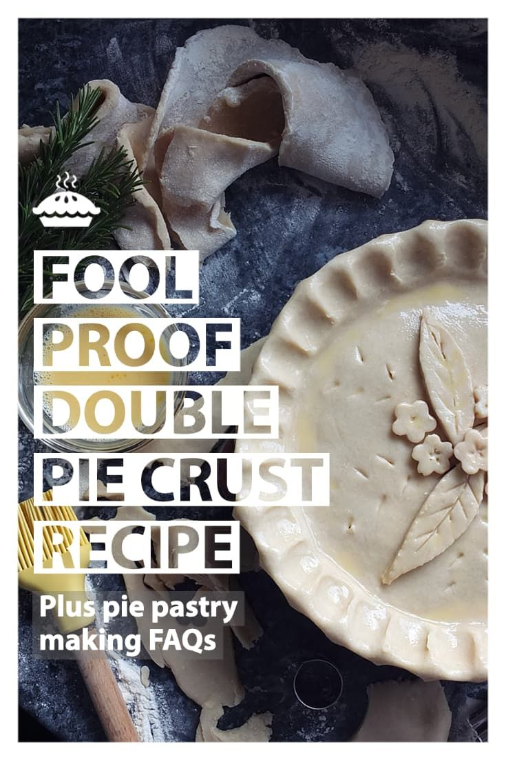 This fail-proof pie crust recipe was my English grandmother's recipe, brought over with her to Canada when she immigrate…