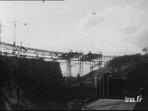 1950 chantiers des barrages de Bort les Orgues et Chastang