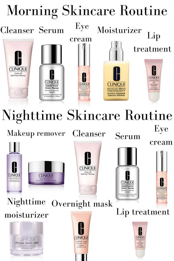 Morning And Nighttime Skincare Routine Using All Clinique Products Morning Skin Care Rout Top Skin Care Products Night Skin Care Routine Skin Care Routine 30s