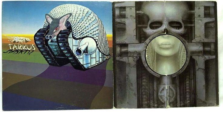 Emerson Lake & Palmer LP Vinyl #Records Lot of 2: Brain Salad Surgery + Tarkus
