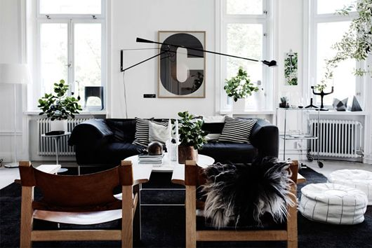 a pinboard in particular: the elusive black sofa. / sfgirlbybay  So graphic