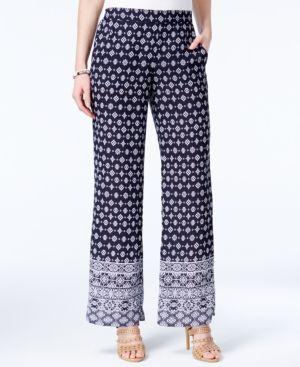 Bcx Juniors' Printed Soft Pants - Blue XL