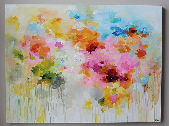 ORIGINAL abstract painting Abstract art,abstract landscape,large abstract painting, modean ,Acrylic painting,pink,blue,orange
