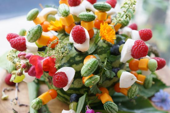 Fruit and Cheese Skewers by Heirloom LA