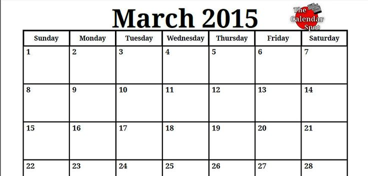 9 Best 2015 Printable Monthly Calendars Images On Pinterest