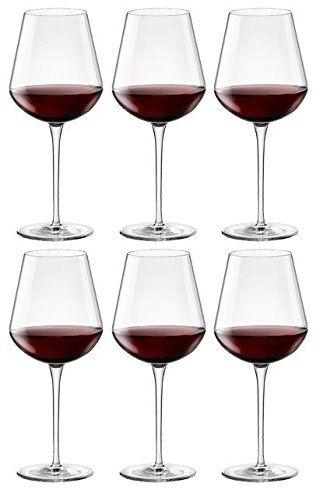 From 16.99:Bormioli Rocco Inalto Tre Sensi Large Wine Glasses - Gift Box Of 6 Glasses - 550ml (18.5oz)